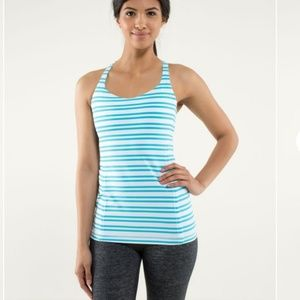 Lululemon Free to Be Tank Top Twin Spry Stripe